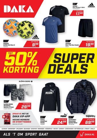Daka Sport reclame folder (geldig t/m 01-11)
