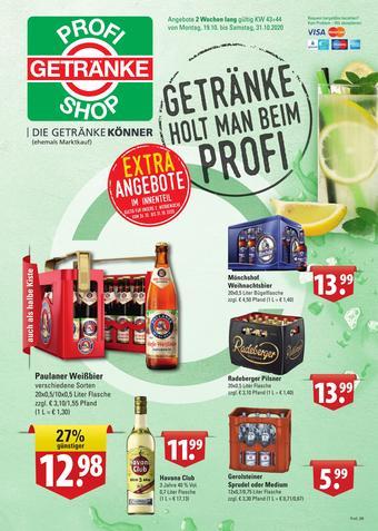 Profi Getränke Prospekt (bis einschl. 31-10)