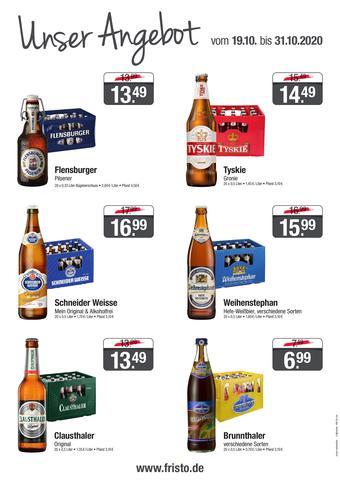 Fristo Getränkemarkt Prospekt (bis einschl. 31-10)