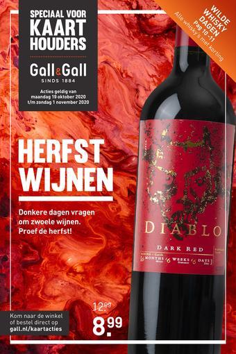 Gall & Gall reclame folder (geldig t/m 01-11)