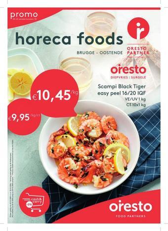 Horeca Foods reclame folder (geldig t/m 20-10)