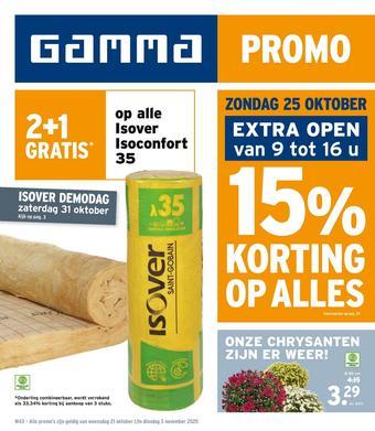 GAMMA reclame folder (geldig t/m 03-11)