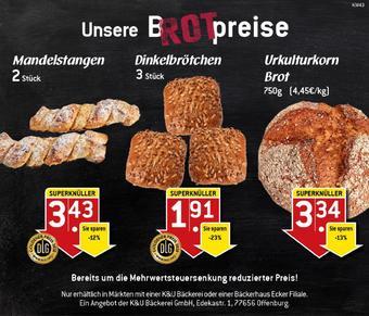 K&U Bäckerei Prospekt (bis einschl. 25-10)