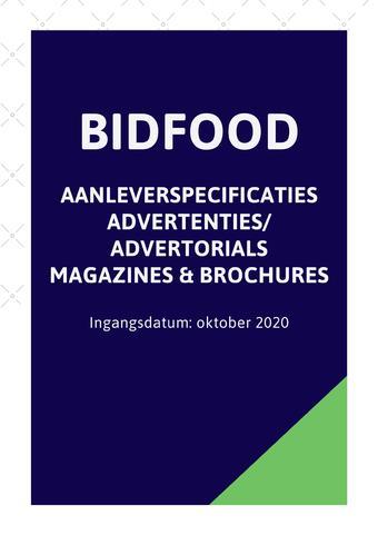 Bidfood reclame folder (geldig t/m 09-11)