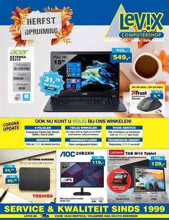 Levix Computershop reclame folder (geldig t/m 15-11)
