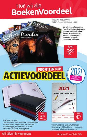 Boekenvoordeel reclame folder (geldig t/m 31-10)