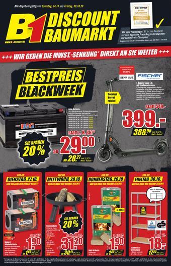 B1 Discount Baumarkt Prospekt (bis einschl. 30-10)