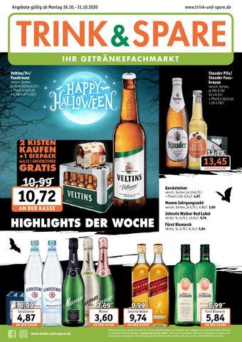 Trink und Spare Prospekt (bis einschl. 31-10)