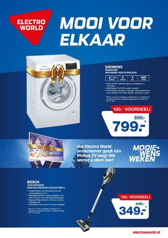 Electroworld reclame folder (geldig t/m 08-11)