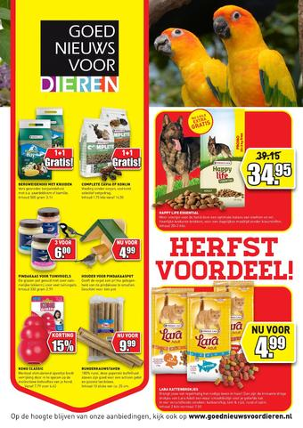 Goed Nieuws Voor Dieren reclame folder (geldig t/m 08-11)