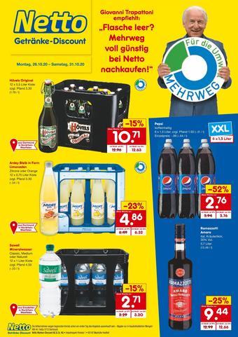 Netto Getränke Discount Prospekt (bis einschl. 31-10)