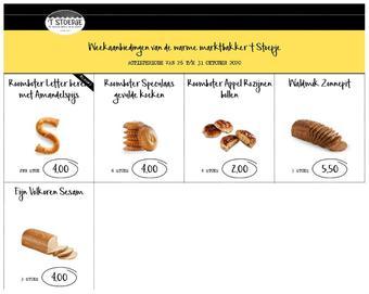 Bakkerij 't Stoepje reclame folder (geldig t/m 31-10)