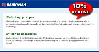 Handyman reclame folder (geldig t/m 30-11)