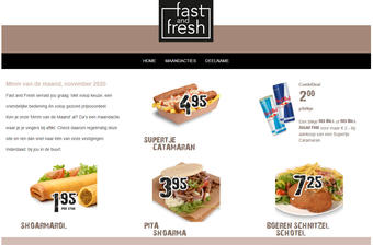 Fast and Fresh reclame folder (geldig t/m 30-11)