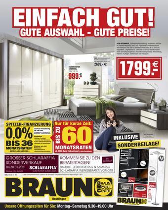Möbel Braun Prospekt (bis einschl. 30-11)