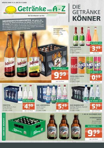 Getränke A-Z Prospekt (bis einschl. 24-11)