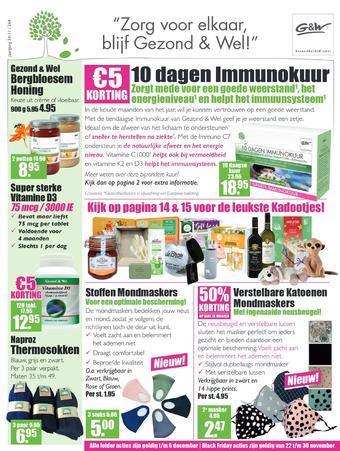 Gezond & Wel reclame folder (geldig t/m 06-12)