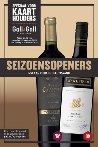 Gall & Gall reclame folder (geldig t/m 29-11)