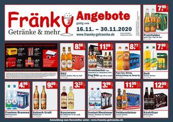 Fränky Getränke Prospekt (bis einschl. 30-11)