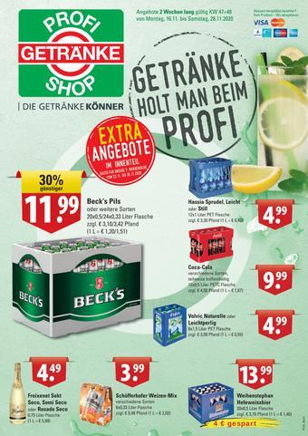 Profi Getränke Prospekt (bis einschl. 28-11)