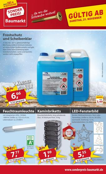 Sonderpreis Baumarkt Prospekt (bis einschl. 27-11)