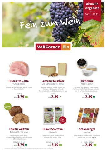 VollCorner Biomarkt Prospekt (bis einschl. 28-11)