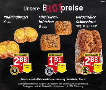 K&U Bäckerei Prospekt (bis einschl. 29-11)