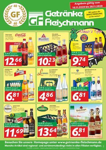 Getränke Fleischmann Prospekt (bis einschl. 28-11)
