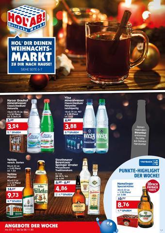 Hol'ab Getränkemarkt Prospekt (bis einschl. 28-11)