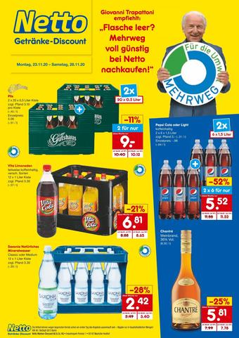 Netto Getränke Discount Prospekt (bis einschl. 28-11)