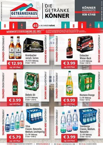 Getränkehaus Prospekt (bis einschl. 28-11)