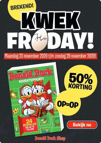 Donald Duck reclame folder (geldig t/m 29-11)