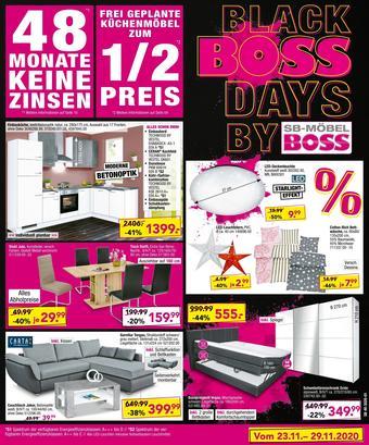 Möbel Boss Prospekt (bis einschl. 29-11)