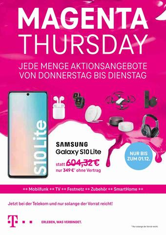 Telekom Shop Prospekt (bis einschl. 01-12)