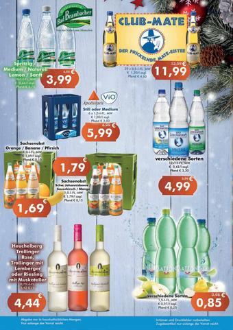 Getränke Huster Prospekt (bis einschl. 12-12)