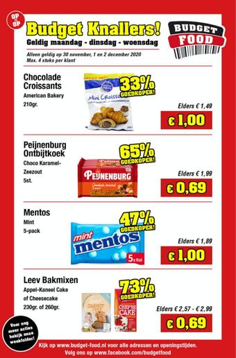 Budget Food reclame folder (geldig t/m 02-12)