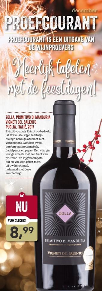 De Wijnproevers reclame folder (geldig t/m 31-12)