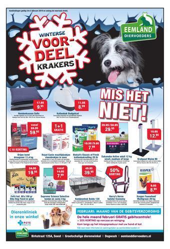 Eemland Diervoeders reclame folder (geldig t/m 31-01)