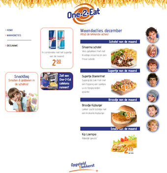 One 2 Eat reclame folder (geldig t/m 31-12)