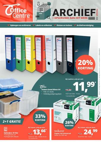 Office Centre reclame folder (geldig t/m 30-01)
