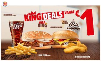 Burger King reclame folder (geldig t/m 22-12)