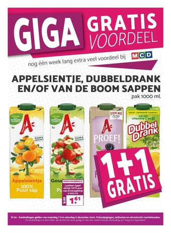 MCD Supermarkt reclame folder (geldig t/m 12-12)