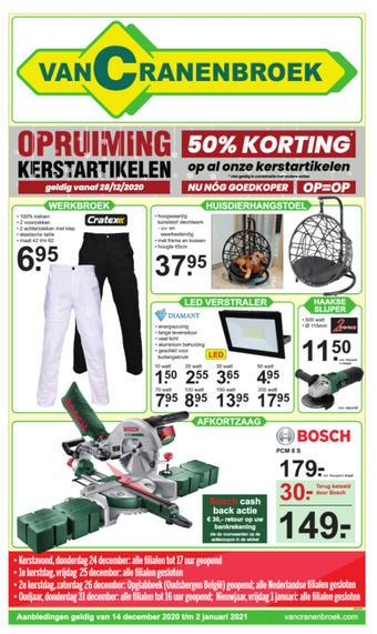Van Cranenbroek reclame folder (geldig t/m 17-01)