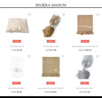 Rivièra Maison reclame folder (geldig t/m 09-02)
