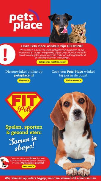 Pets Place reclame folder (geldig t/m 16-01)