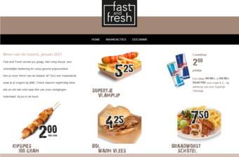 Fast and Fresh reclame folder (geldig t/m 31-01)