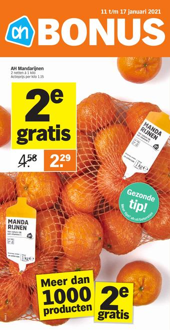 Albert Heijn reclame folder (geldig t/m 17-01)