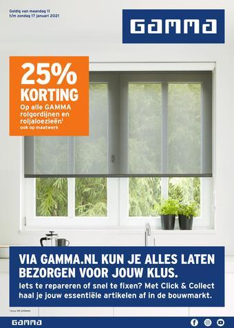 GAMMA reclame folder (geldig t/m 17-01)