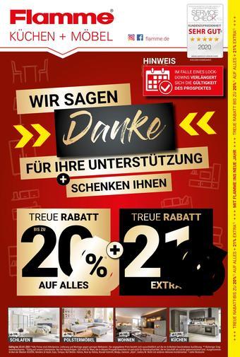 Flamme Möbel Prospekt (bis einschl. 23-01)