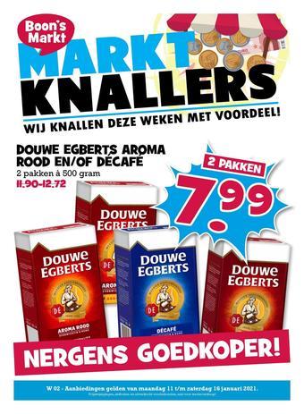 Boon`s Markt reclame folder (geldig t/m 16-01)